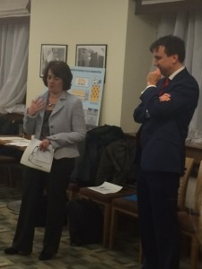 Jane Ellison MP and Andrew Griffiths MP Chairman of the APPGB at the House of Commons
